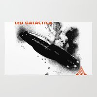 led zeppelin Area & Throw Rugs featuring LED GALACTICA by ClevaGurl