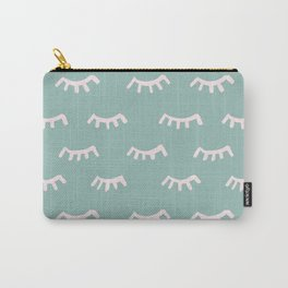 Mint Sleeping Eyes Of Wisdom - Pattern - Mix & Match With Simplicity Of Life Carry-All Pouch