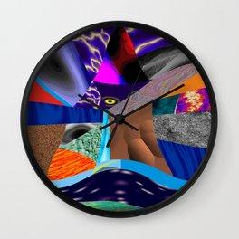 Rasgos de cor Wall Clock