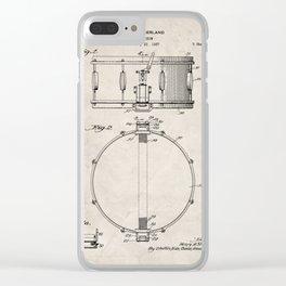 Snare Drum Patent - Drummer Art - Antique Clear iPhone Case