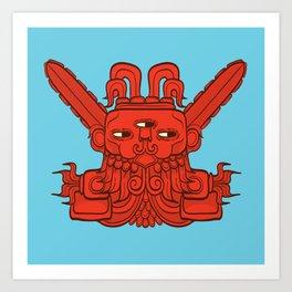 Ah Puch (Mayan God of War) Art Print