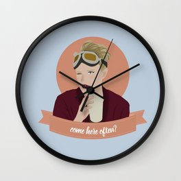 come here often? Wall Clock