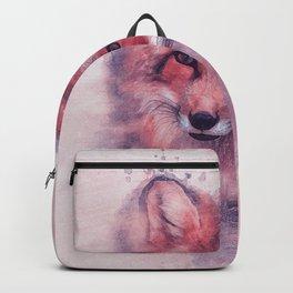 Red fox art Backpack