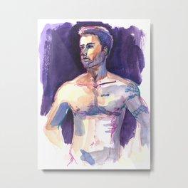 LOVE, Semi-Nude Male by Frank-Joseph Metal Print