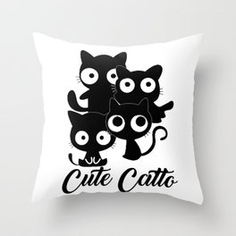 Cute catto Throw Pillow