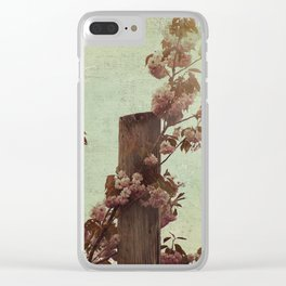 Faded Blossoms Clear iPhone Case