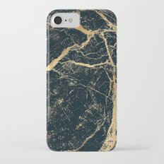 Black and Gold Marble iPhone 7 Slim Case