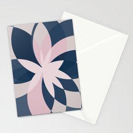 Rose Blue Bloom Stationery Cards