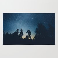 astronomy Area & Throw Rugs featuring Follow the stars by HappyMelvin