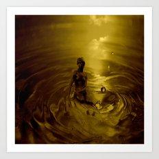 Little mermaid gold Art Print