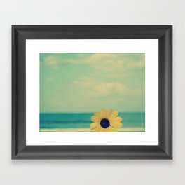 life at the beach Framed Art Print