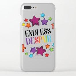 Endless Despair Clear iPhone Case