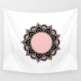 Mandala: Pink and Black Wall Tapestry