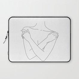 Crossed arms illustration - Joyce Laptop Sleeve