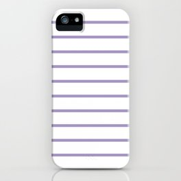 Lavender Breton Stripes iPhone Case