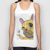 frenchie Tank Tops featuring Frenchie by Kandus Johnson
