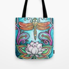Enlightened Dragonfly Tote Bag