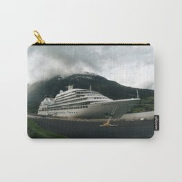 Cruise ship moored on norwegian fjord Carry-All Pouch