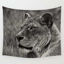 Lioness Portrait Wall Tapestry