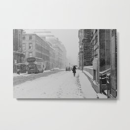 Glasgow White-Out Metal Print