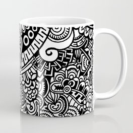 DOODLE ABSTRACT BLACK AND WHITE Coffee Mug