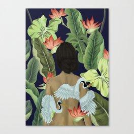 Cranes of Paradise Canvas Print