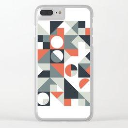 Mid Century Geometric 04 Clear iPhone Case