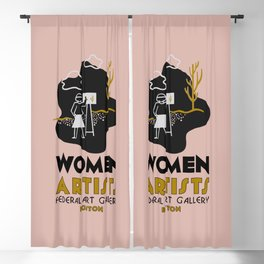 Women artists gallery expo Blackout Curtain