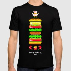 BurgerTime LARGE Black Mens Fitted Tee