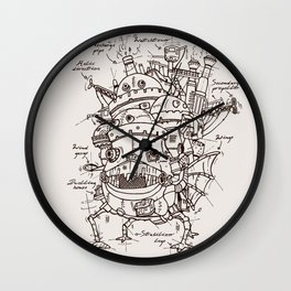 Howl's Moving Castle Plan Wall Clock
