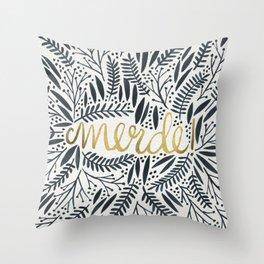 Pardon My French – Black & Gold Throw Pillow