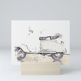 1959 Lambretta LI125 2 watercolor by Ahmet Asar Mini Art Print