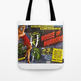 House of Horrors, vintage horror movie poster Tote Bag