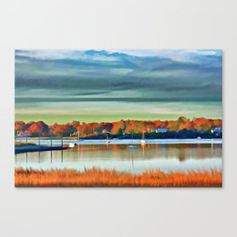 Colors of Autumn By the Water Canvas Print