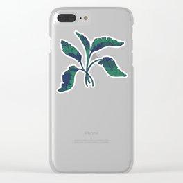 Palmas de Turquesa Dos (Turquoise Palms 2) Clear iPhone Case