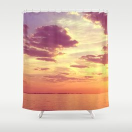 70'S ACIDIC SUNRISE Shower Curtain