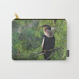 Roosting Anhinga Stylized Carry-All Pouch