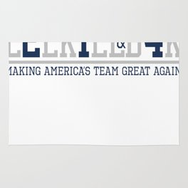 Making America's Team Great Again (Blue Numbers) Rug