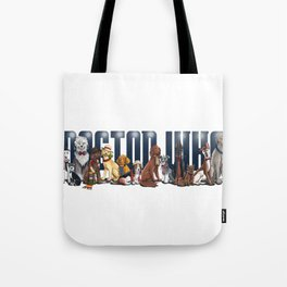 Doctor Who FanArt Dogs Tote Bag