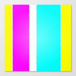 Spring Themed Candid Pastel Colored Stripes Artwork Canvas Print
