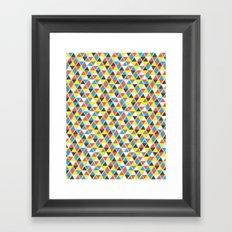 Tribal Triangles Framed Art Print