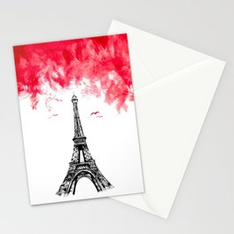 Triple Eiffel Stationery Cards