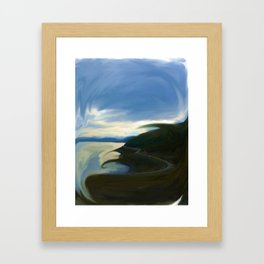 The Colorful and Twisted Arctic Ocean Framed Art Print