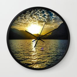 Sunset view in Muscat Oman Wall Clock