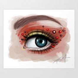 Heart Eyes Art Print