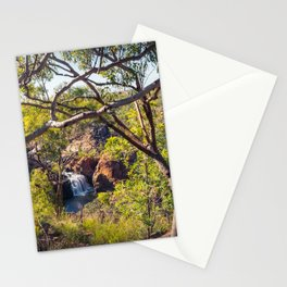 Edith Falls framed between trees, Katherine, Australia Stationery Cards