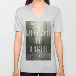 WELCOME TO EARTH Unisex V-Neck