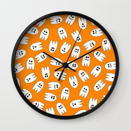 Ghosts Halloween Pattern Wall Clock