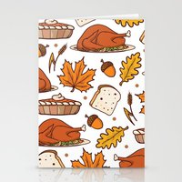 thanksgiving Stationery Cards featuring thanksgiving by Ceren Aksu Dikenci