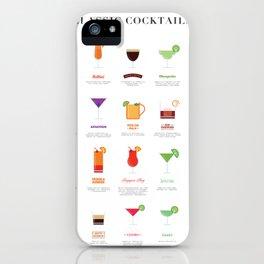 Classic Cocktails Print Art Poster | Drink Recipes | Bar Poster | Bar Art | Kitchen Art | Alcohol iPhone Case